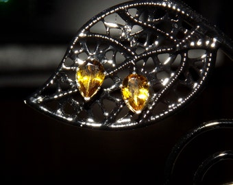Madagascan Golden Yellow Tourmaline 1.00 TCW 7 x 5 MM Stud Earrings