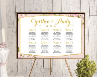 Find your Seat Chart, Printable Wedding Seating Chart, Wedding Seating Poster, Wedding Seating Sign, Wedding Seating Board WD81 WC68