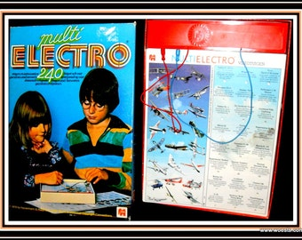 Multi Electro 240 questions and answers. Vintage instructional / educational board game (toy) from publisher Jumbo (Hausmann & Hötte).