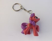My Little Pony Keychain Pink Ponies Luckette, Honey Rays, Sweetie Swirl, Island Rainbow,Flower Wishes brony gifts, party favors pegasister