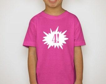 Children's Birthday Shirt, Birthday Shirt, Age Shirt
