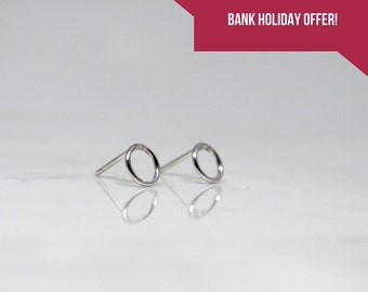 Solid Silver Circle Earrings
