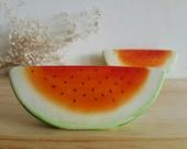 Watermelon Sweet Summer Kithen Decor Vintage Mid Century Vintage Watermelons Salt & Pepper Shakers Kitsch Fruit