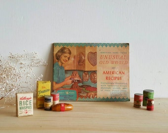 Vintage Cookbook Booklet Home Tested Unusual Old World and American Recipes  Nordic Ware Advertising Retro Graphics Mini Book Small