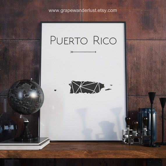 Puerto rico art puerto rico map puerto rico wall art puerto for Puerto rico home decorations