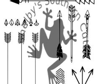 11 Arrow Drawings SVG