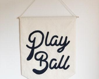 Play Ball Banner Pennant Flag