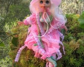 Pink kitchen witch