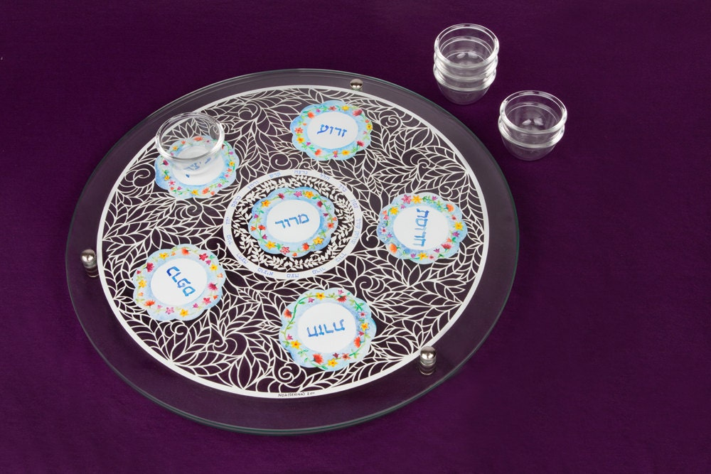 Passover Seder Plate Seder Plate jewish passover dishes