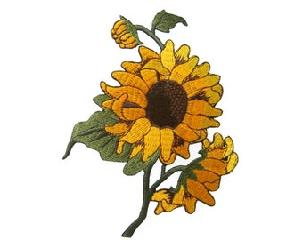 Sunflower Flower Iron On Patch