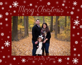 Printable Christmas Card Template!