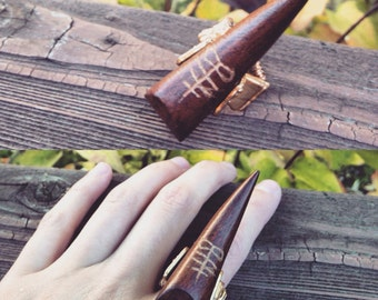 Wooden carved ring