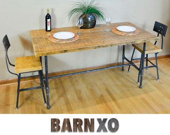 Table Reclaimed Wood Table, Dining Table, Kitchen Table, Industrial, Reclaimed