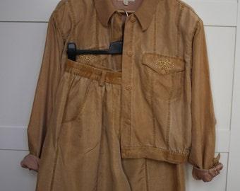 Vintage Women's Suit/ Bomber Jacket/Shorts/Jacket/Jean Crawford