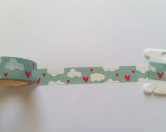 Hearts & Clouds Washi Tape // Sample // Item #WT001