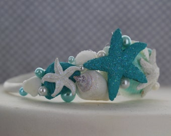 Seashell and Starfish Bridal Headband/