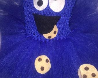 Cookie monster tutu dress, Sesame Street tutu dress, Cookie Monster costume, Sesame Street costume