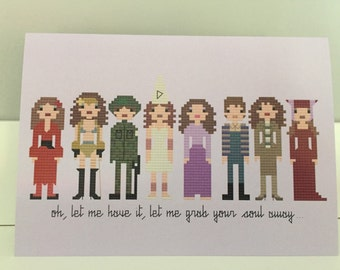 Kate Bush blank greeting card