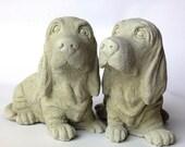 Concrete Basset hound dog statue, Concrete Beagle Statue, Dog Statues, Concrete Garden Decor, Pet Loss, Pet Memorial, Loss of Pet Dog Statue