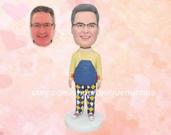 Husband birthday gift Custom Bobblehead dolls, Father's day gift for husband, Bobblehead dolls