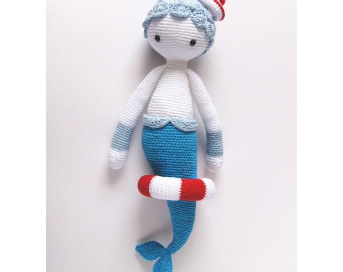 Crochet Toy Doll Amigurumi Lalylala Doll Mermaid Marine Handmade Fairytale Gifts for Kids Nursery Decor