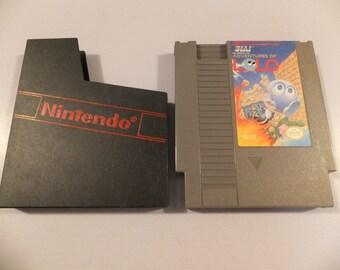 The Adventures of Lolo Original NES Nintendo Vintage Video Game Cartridge