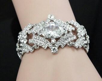 High Quality Austrian Crystal Bracelet. Elegant and Stunning!