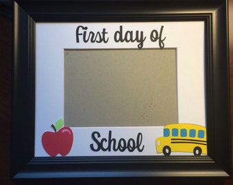 First day of school picture frame