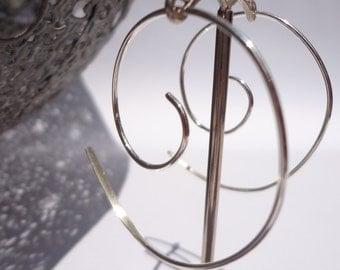 Spiral Sterling Silver Earrings - Silver Spirals - Sterling Silver Earrings - Silver Jewellery - Paisley Daze Designs