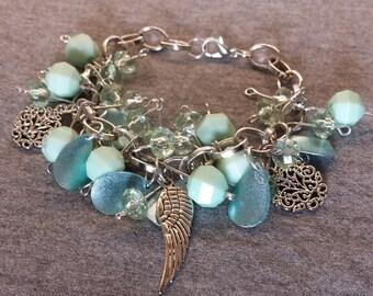 Charm bracelet light turquoise