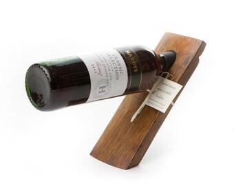 Porte-bouteille vin tonneau porte-bougies