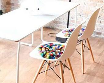Knitted Chair Pad PDF Pattern - DIY Rocking Chair Pad Pattern - Eames Chair Pad Pattern - Egg Chair Pillow Knit Pattern