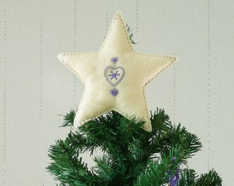 Custom Scandi Style Star Christmas Tree Topper