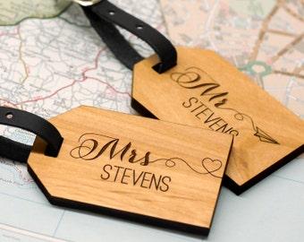 Herr und Frau Gepäckanhänger, Hochzeitsgeschenke für Paare, Hochzeit-Kofferanhänger, Hochzeitsgeschenke personalisiert, personalisierte Flitterwochen Kofferanhänger