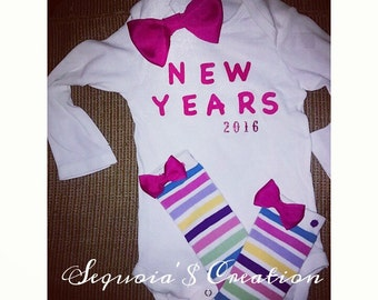 New Years onesie and leg warmer set