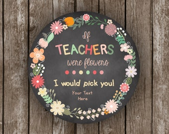 50% OFF SALE Teacher Appreciation - Flowers - Printable Card - Editable - Instant Download - Gift Card Holder