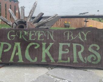 Packers Rustic Oakwood Sign