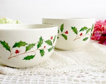 Set of Lenox Holiday Serving Bowls / Nesting Bowls - Christmas Holiday Fine China, Lenox Serving Bowls, Christmas Serving Bowls