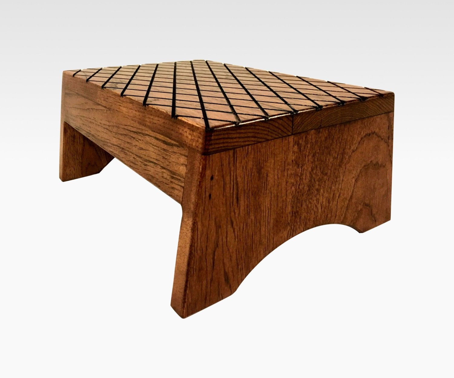 Wooden Step Stool ~ Step stool in rustic mahogany by candlewood furniture wooden