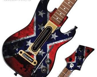 Guitar Hero Live Skin Kit - Playstation PS4 & XBOX One - Redneck Flag Grunge