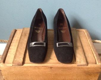 Ladies Vintage Black Leather Shoes By Bruno Magli