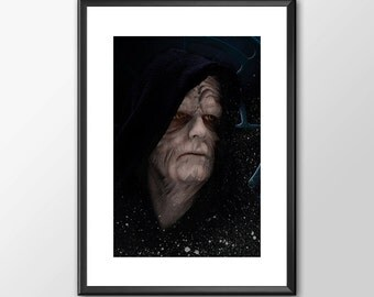 Emperor Palpatine Darth Sidious - Star wars inspired Print - BUY 2 Get 1 FREE