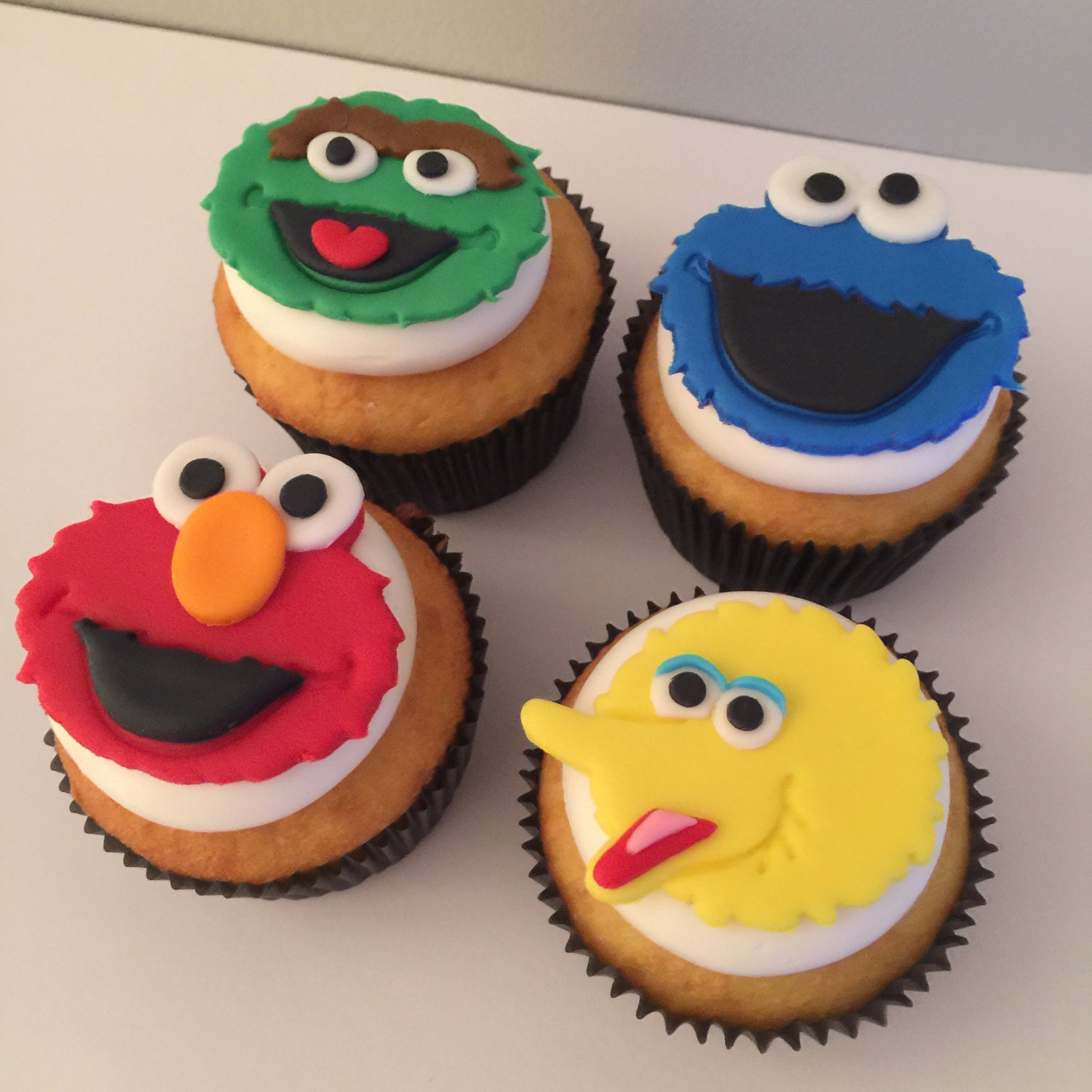 sesame street cake toppers 12 sesame cupcake toppers fondant 7302