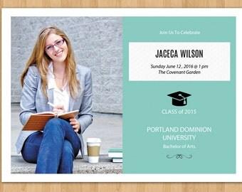 Sale ! Senior Announcement Template | Graduation Announcement Template |  Graduation Invitation | Photoshop & Elements Template | G-001