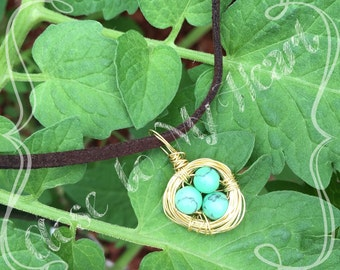 eggs in a nest necklace