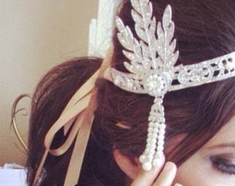 1920s headpiece, gatsby headpiece, wedding hair accessory, great gatsby, great gatsby headband, 1920s headband,