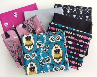 Goth And Ghostly Fat Quarter Bundle By Cotton & Steel Fabrics