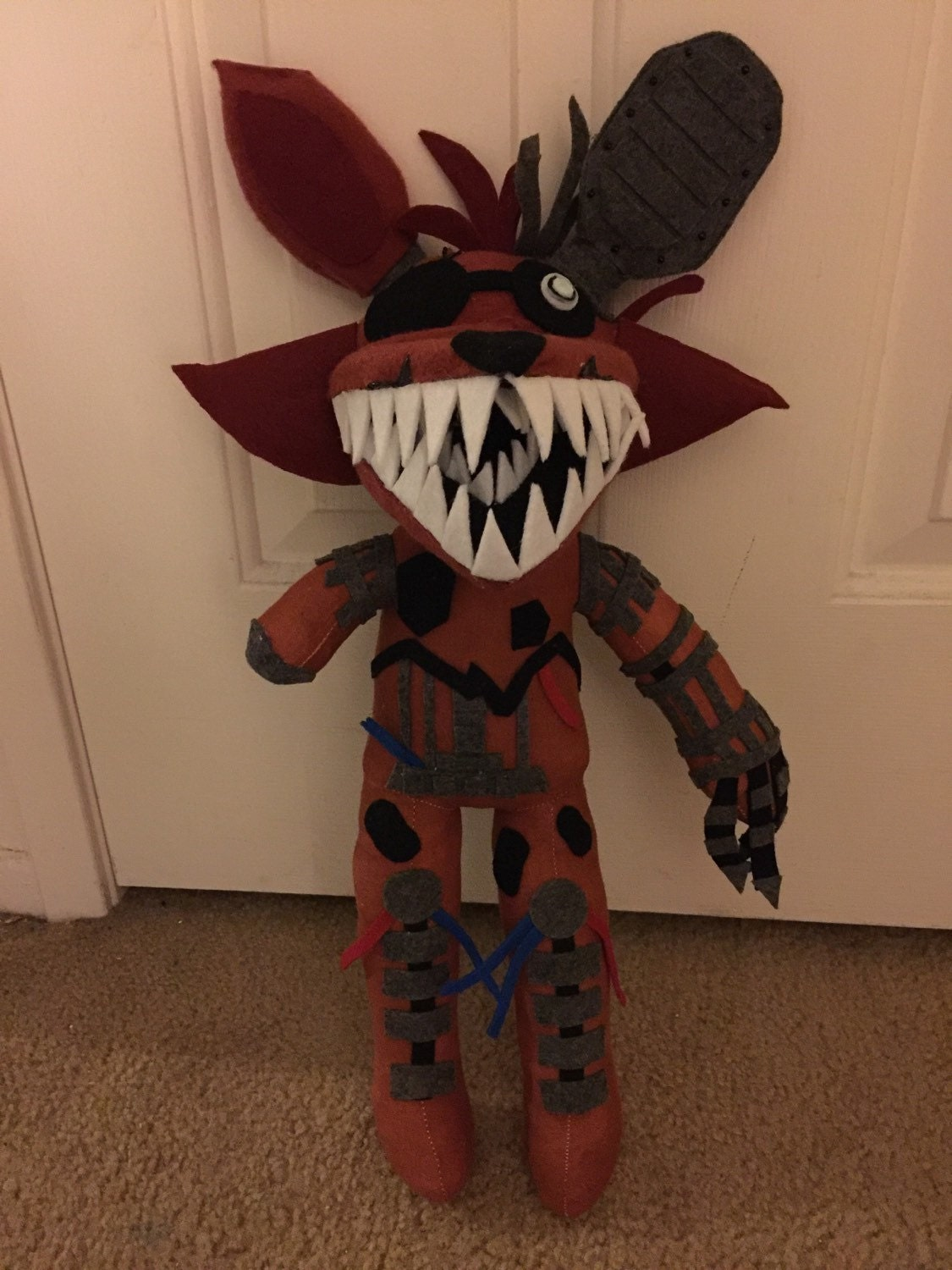 How to make your own five nights at freddys foxy plush -  Zoom