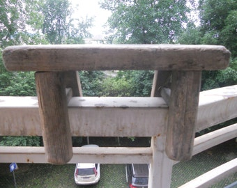More Than 40  Years  Ago's  Old  Wooden Bench Old  Small  Square Stool  Old  Benches  Old  Trunks    SF04