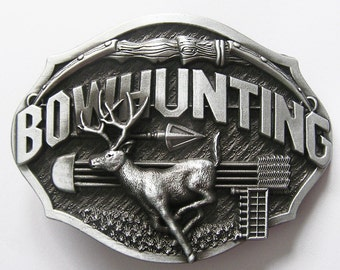 Original Bowhunting Deer Belt Buckle